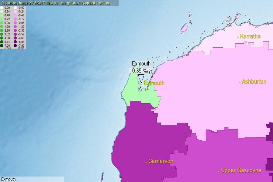 Exmouth Shire, WA population (LGA)
