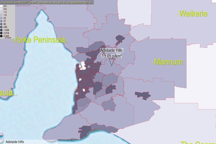 Adelaide Hills population (SA2)