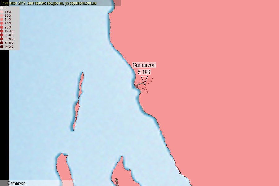 Carnarvon population (SA2)